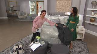 Inspire Me! Home Decor 50x60 Knit Throw w/ Faux Fur Details on QVC