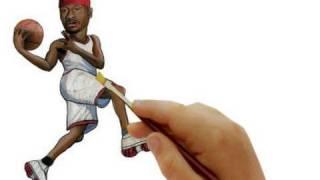 Allen Iverson- Bobble Head Drawing