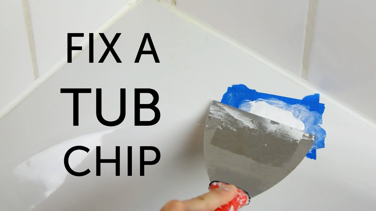 DIY Bathtub Repair YouTube - Chipped bath enamel
