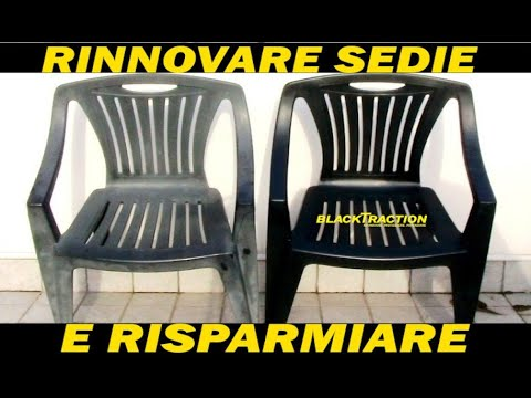 Rinnovare Sedie In Plastica.Rs Rinnovare Sedie Da Giardino Youtube