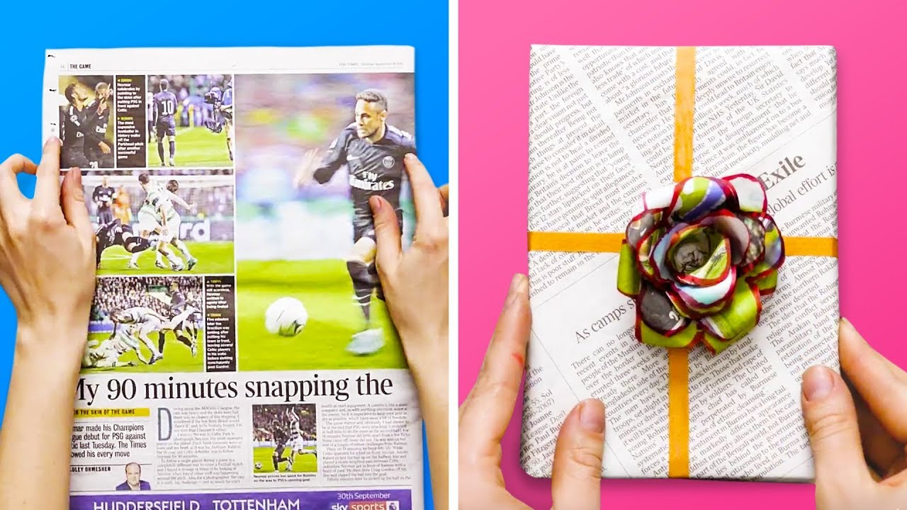 17 GENIUS NEWSPAPER CRAFTS