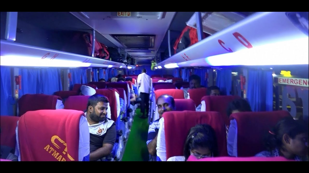 Inside & Outside View Of Newly Launched Superfine Multi Axle Scania Bus Departing Mumbai For Goa ...