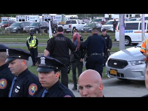 Outside First Presidential Debate, 24 Arrested at Protests & Jill Stein Escorted Away by Police