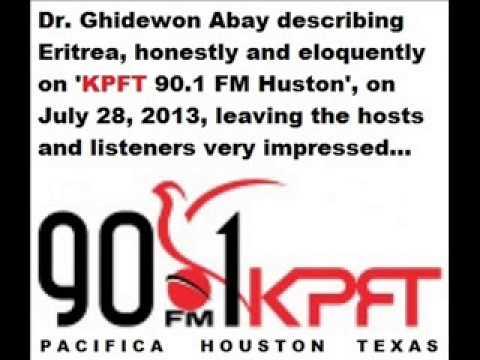 Dr. Ghidewon Abay at KPFT 90.1 FM, Houston