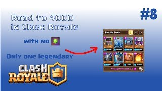 Road to 4000 in Clash Royale | Winning deck with Giant | #8