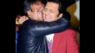 Vivek Oberoi's Birthday & Grand Masti promotion. Riteish Deshmukh Aftab Shivdasani on Pavitra Rishta