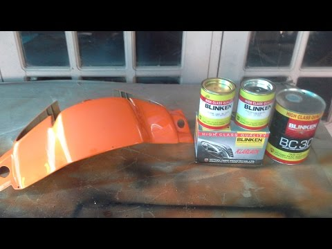 how to Repaint Motocycle wet look ( cara cat motor )