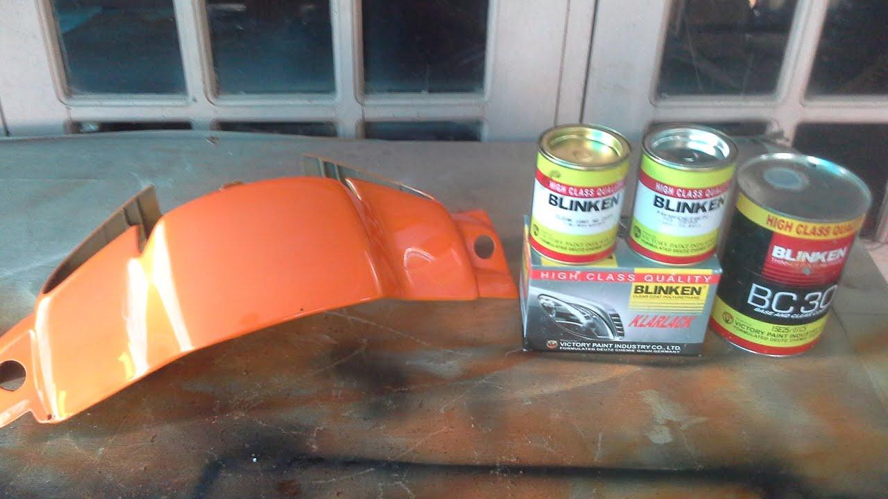 how to Repaint Motocycle wet look ( cara cat motor ) - YouTube