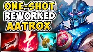 THIS REWORKED AATROX ONE-SHOT BUILD IS ABSOLUTELY INSANE! THEY JUST DROP DEAD!! - League of Legends