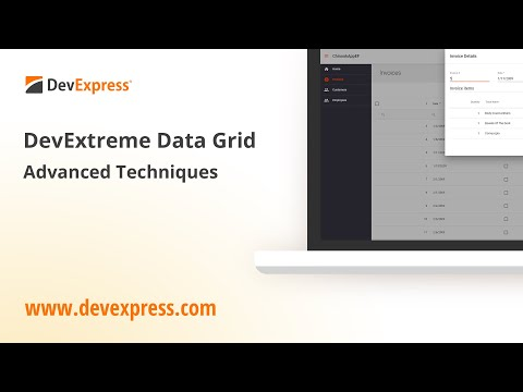 DevExtreme Grid with Reporting: Advanced Editing