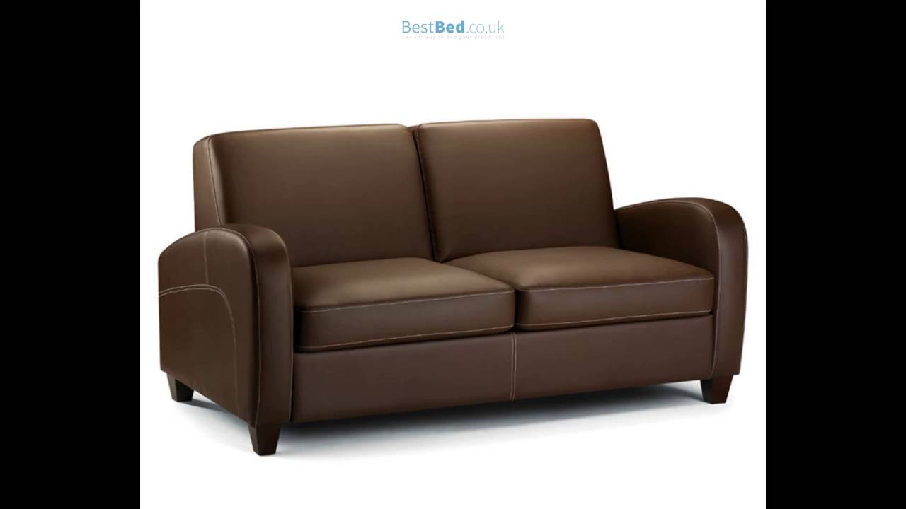 Vivo 4ft Chestnut Brown Faux Leather Pull-Out Sofa Bed - YouTube
