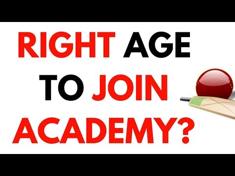 What is the right age to join academy? अकैडमी जाने का सही टाइम?