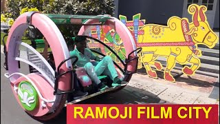 Amusement park ride for small children    London set in Ramoji Film city