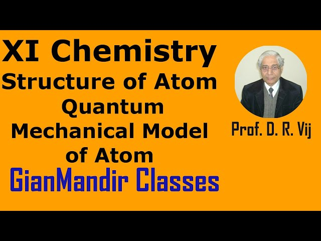 XI Chemistry - Structure of Atom  - Quantum Mechanical Model of Atom by Ruchi Mam