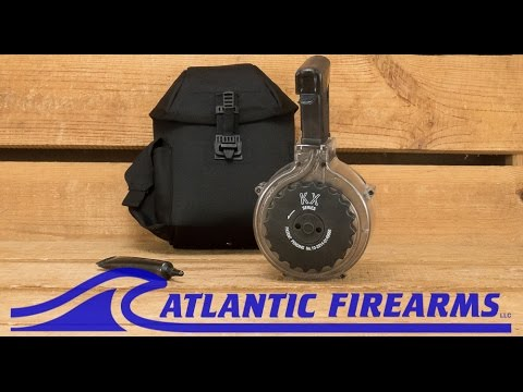 AR15 50 Round Drum Magazine Atlantic Firearms.
