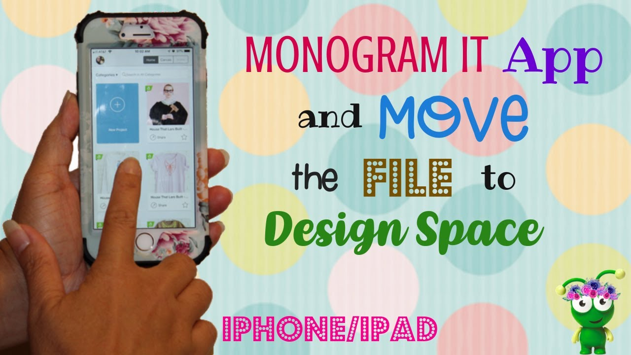 How to use Monogram It App | IPHONE | IPAD | Cricut Design Space |  Personalize Ideas