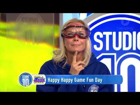 Happy Happy Game Fun Challenge w Katherine Kelly Lang  Studio 10