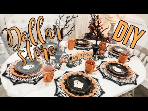 🕸DOLLAR STORE DIY | Halloween Table Setting🕸
