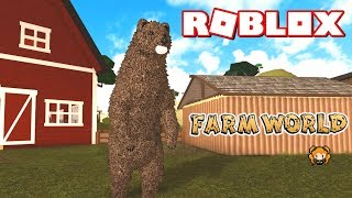 ROBLOX FARM WORLD 🐔 Funny Interactions! How To Change Your Animals + ULTRA RARE BEAR 🐻 Roleplay