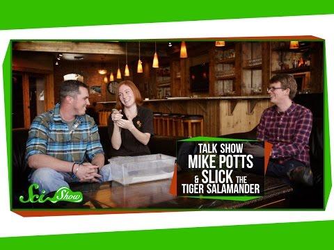 SciShow Talk Show: Environmental Engineer Mike Potts & Slick the Tiger Salamander