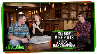 SciShow Talk Show: Environmental Engineer Mike Potts & Slick the Tiger Salamander