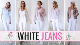 5 Outfit Ideas with Your White Skinny Jeans
