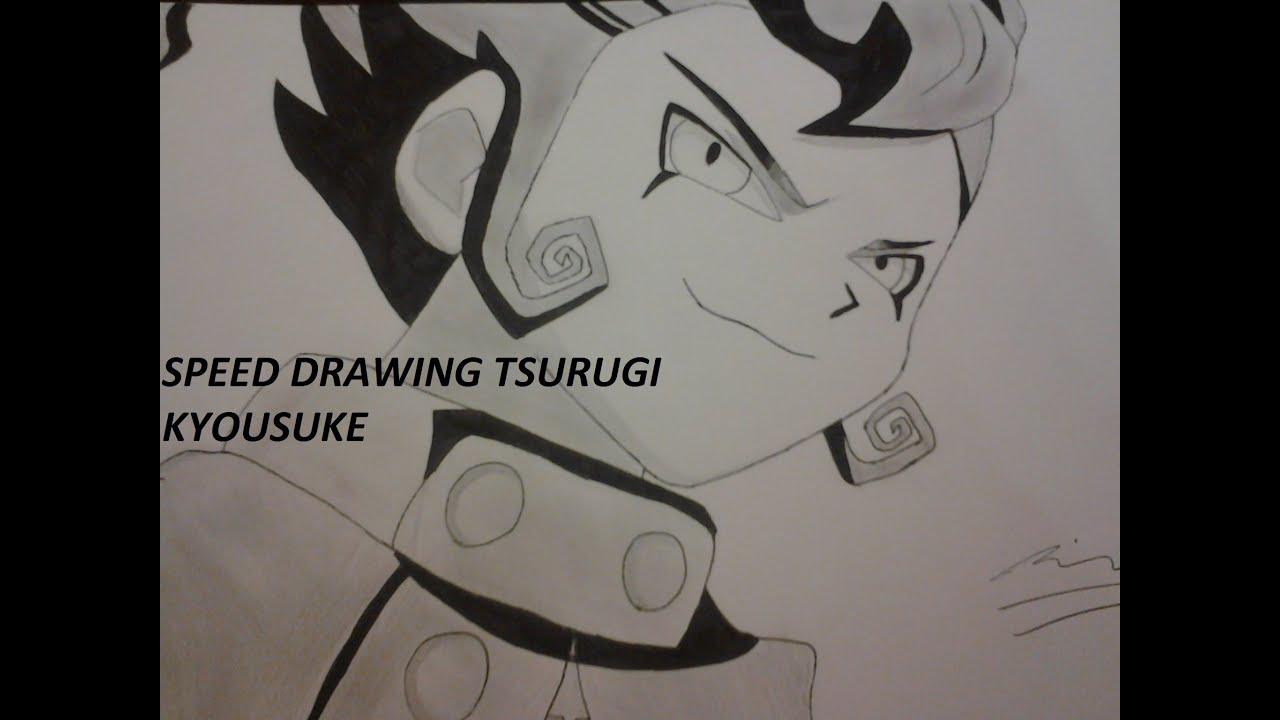 how to draw tsurugi kyousuke