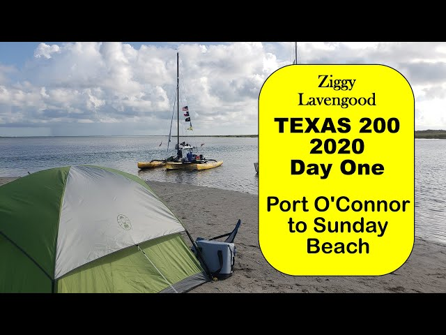 Boat camping. Day one of the Texas 200, 2020