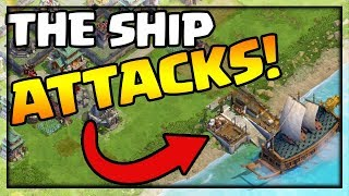 THE SHIP ATTACKS From the WATER! DomiNations Summer for the Ages!