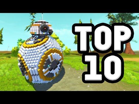 TOP 10 CREATIONS OF 2016! (Scrap Mechanic)