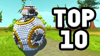 TOP 10 CREATIONS OF 2016! (Scrap Mechanic)