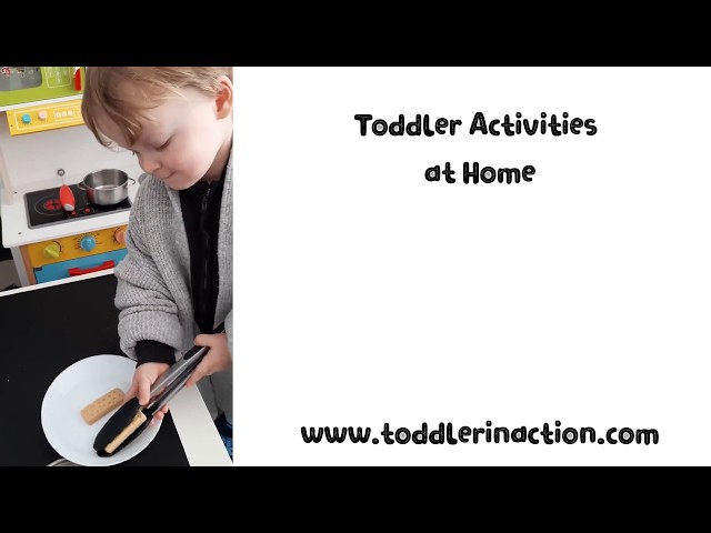 Toddler Activities at Home, 22 easy, no mess Fine Motor Activities, 2 Year Old, Shortbread Transfer