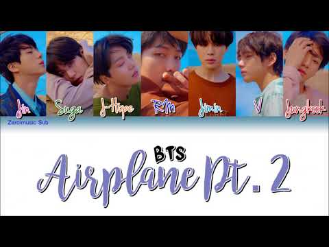 BTS (방탄소년단) - Airplane Pt.2 - (Sub español + Roma + Han + Lyrics + Colorcodedlyrics)