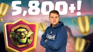 CLASSIC LOG BAIT! 5,800+ LIVE Ladder Gameplay - Clash Royale