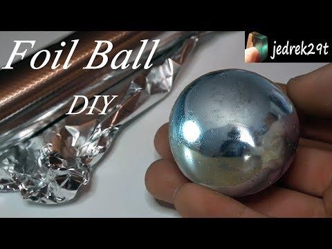Polished Aluminum Foil Ball. DIY. Challenge/Kula z folii aluminiowej.