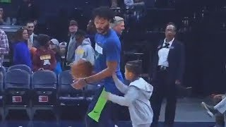 Derrick Rose vs His Son in a 1 on 1!