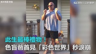 此生最棒禮物!色盲爸首見「彩色世界」秒淚崩|三立新聞網SETN.com