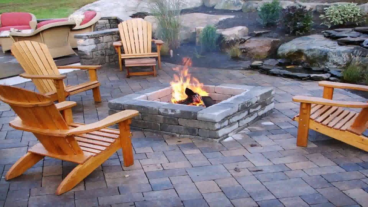 Small Outdoor Stone Fireplace Designs Youtube