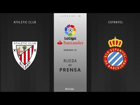 Rueda de prensa Athletic Club vs Espanyol