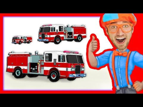Thumbnail: Compilation of Blippi Toys Videos | Fire Trucks and more!