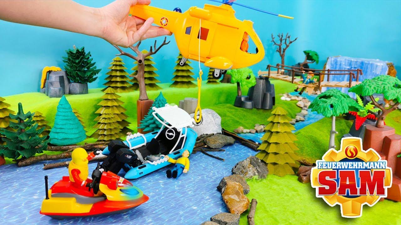 Feuerwehrmann Sam 🚨 Charlies Motorboot baut Unfall - Kinder Spielzeugfilm