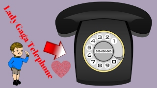 How To Draw Lady Gaga Telephone| How To Draw Telephone Number Easily