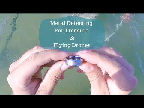 Metal Detecting - Rings, Treasure, and Flying Drones at the Beach [2017]
