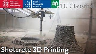 Shotcrete 3D Printing @ DBFL | TU Braunschweig