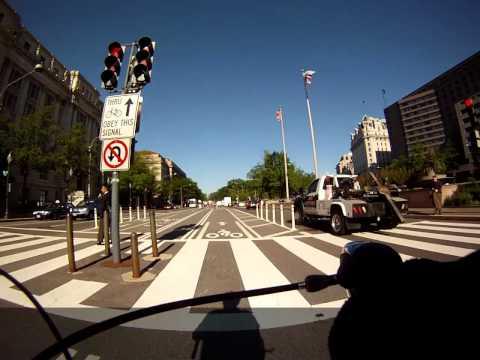 Washington DC -- Pennsylvania Ave. NW median bike lane