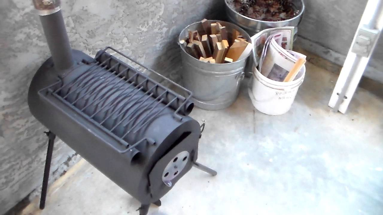 small portable outdoor woodstove for campers or preppers youtube