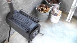 Small portable outdoor woodstove for campers or preppers