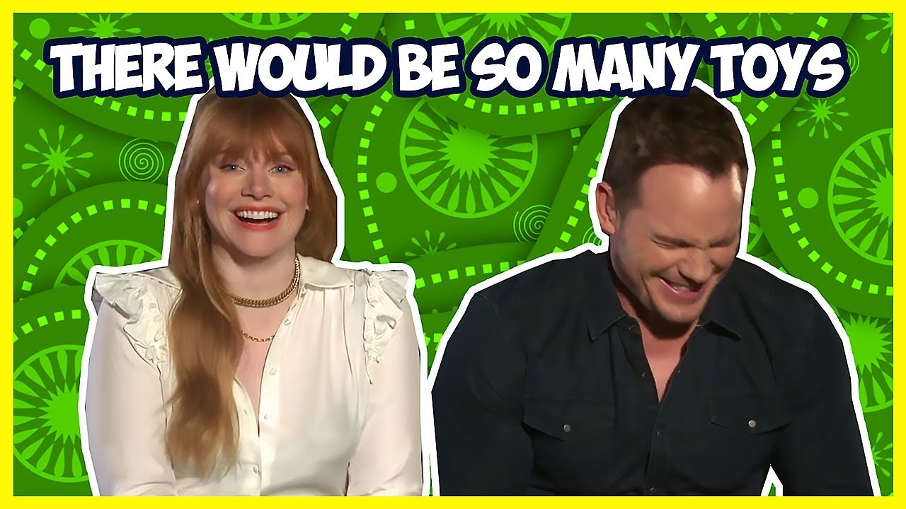 Bryce Dallas Howard Makes Chris Pratt Laugh So Hard | Jurassic World: Fallen Kingdom