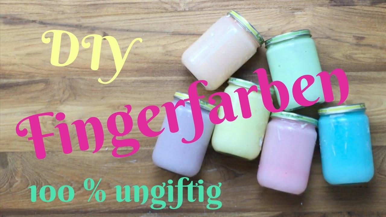 Malfarbe/Fingerfarbe selber machen- selber herstellen OHNE kochen ...