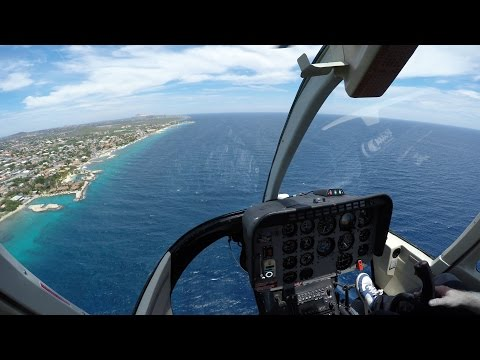 Vuelo en helicóptero en Curazao - Helicopter ride in Caribbean Sea in 4K